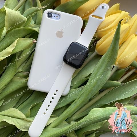 Ремешок Apple watch 42/44mm Sport Band /antique white/ молочный