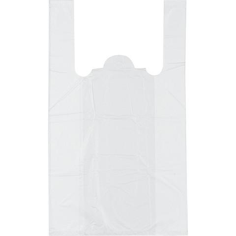 Пакет-майка Знак Качества ПНД белый 12 мкм (25+12x45 см, 100 штук в упаковке)