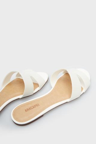 Женские белые слайдеры Anacapri