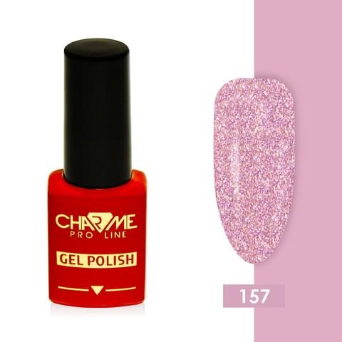 Гель-лак 157 - розовый кварц с блестками Charme 10 мл