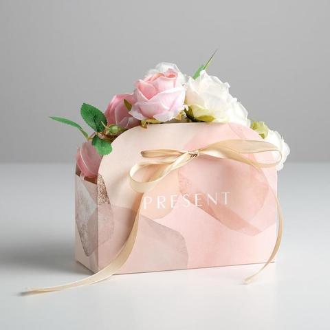 Переноска для цветов складная Present, 17 × 13 × 7 см