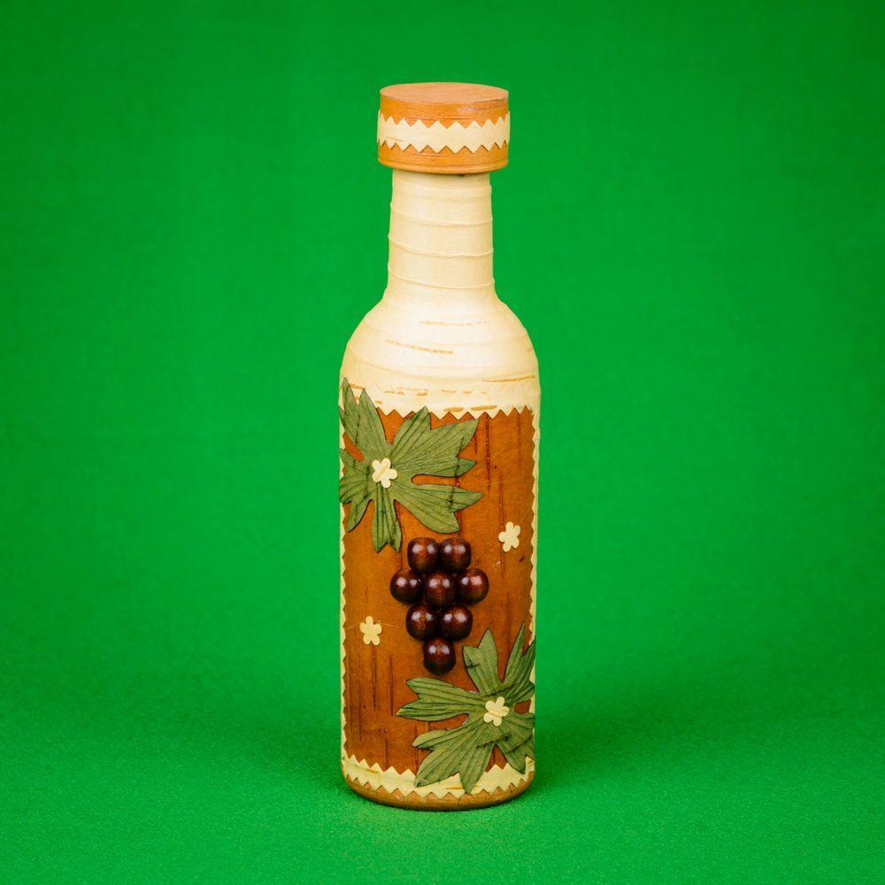 Бутылка оплетённая берестой, ягода, 0,25л