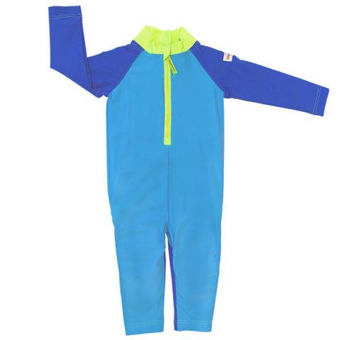 Плавательный костюм, plain blue/green, 98-104 см./ 2-4 г.