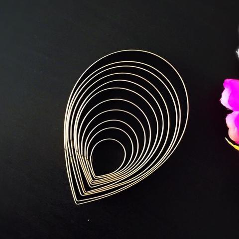 Вырубка металлическая КАПЛИ (КАЛЛА)  11в1 (10см, 9см, 8,5см, 8см, 7см, 6см, 5см, 4,5см, 4см, 3,3см, 2,5см)