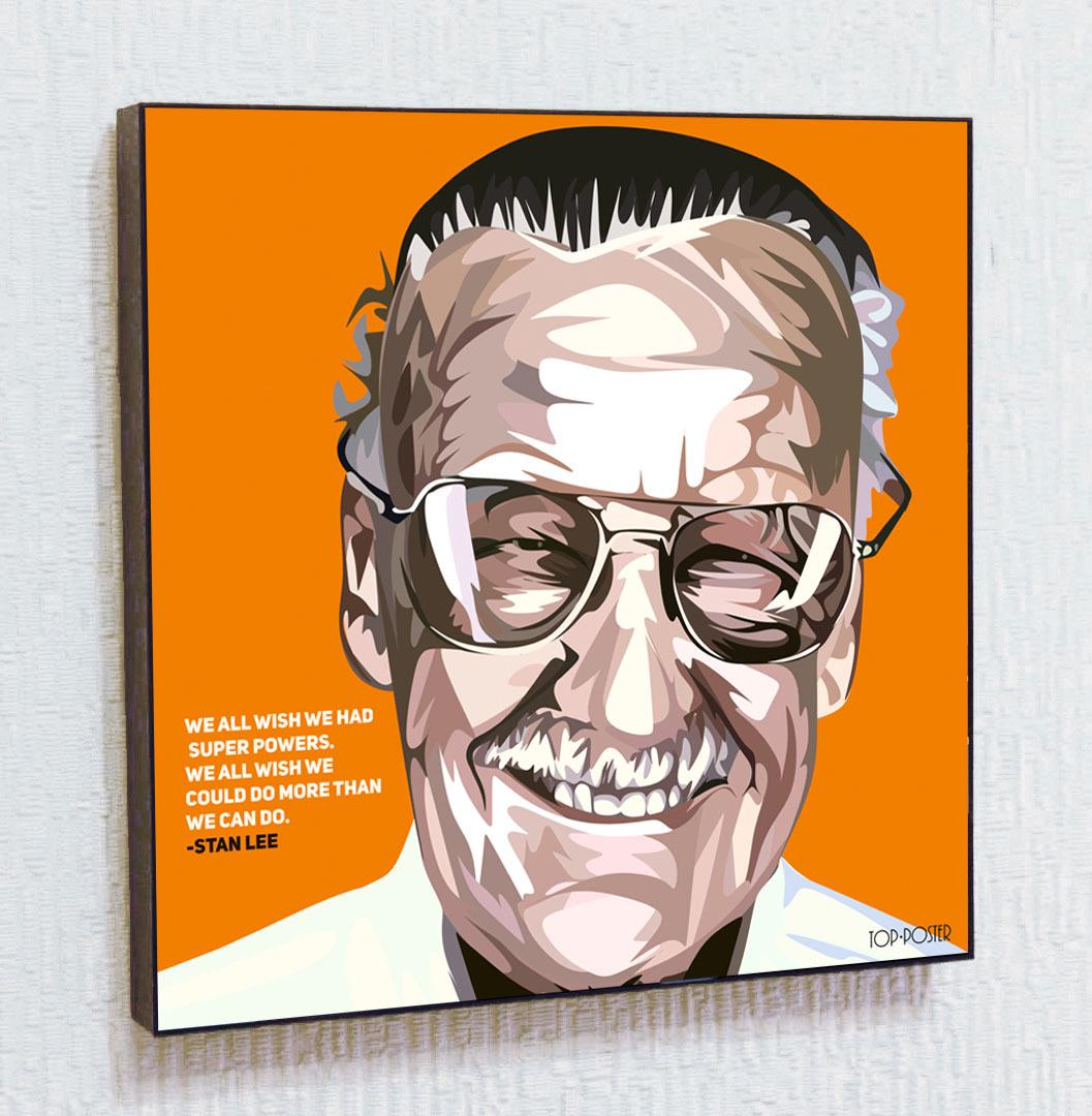 Стэн Ли Картина ПОП-АРТ портрет постер