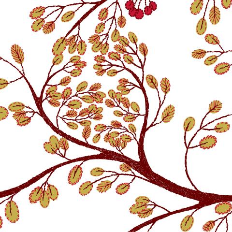 Красные ветви