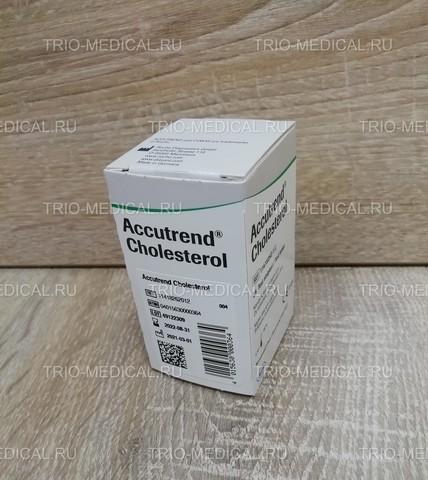 11418262012 Тест-полоски Аккутренд Холестерин (Accutrend Cholesterol) 25шт/уп Roche Diagnostics GmbH, Germany/Рош Диагностика Рус, Германия