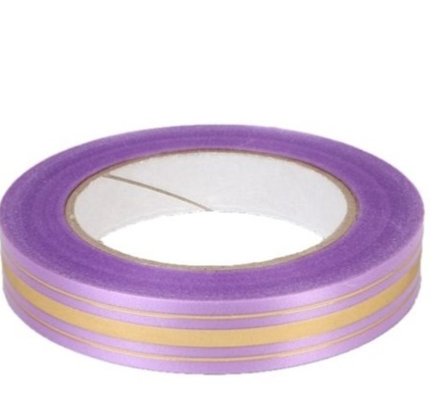 Лента золотая полоса Россия (размер: 2 см х 50 ярдов) Цвет: сиреневый