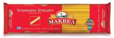 Греческое квадратное спагетти MAKVEL 500 гр.
