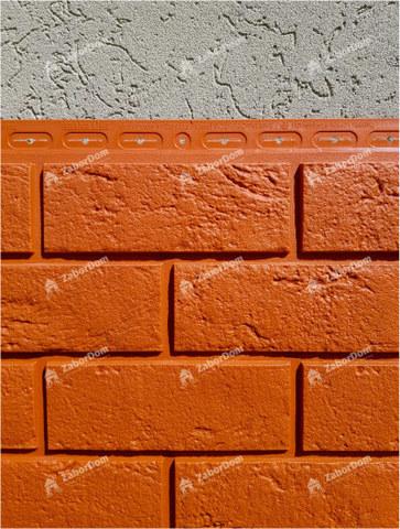 Фасадная панель Гранд Лайн Состаренный кирпич Терракотовый 1109х418 мм