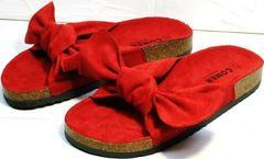 Модные летние босоножки шлепанцы birkenstock Comer SAR-15 Red.
