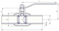 Конструкция LD КШ.Ц.П.GAS.040.040.Н/П.02 Ду40