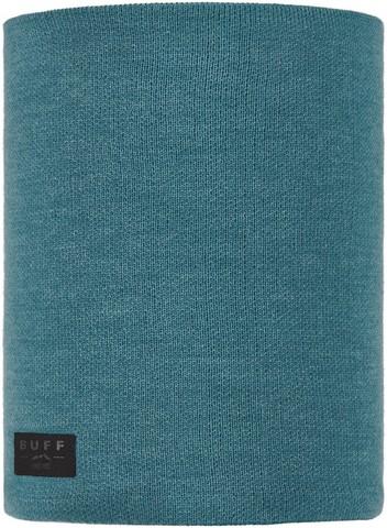 Вязаный шарф-труба с флисом Buff Neckwarmer Knitted Polar Neo Dusty Blue фото 1