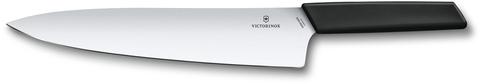 Нож Victorinox разделочный, лезвие 25 см, чёрный, в картонном блистере