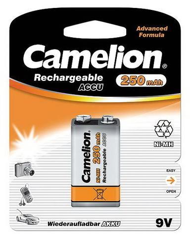Аккумуляторы Camelion Ni-MH, 6F22 (Крона) 250 mAh