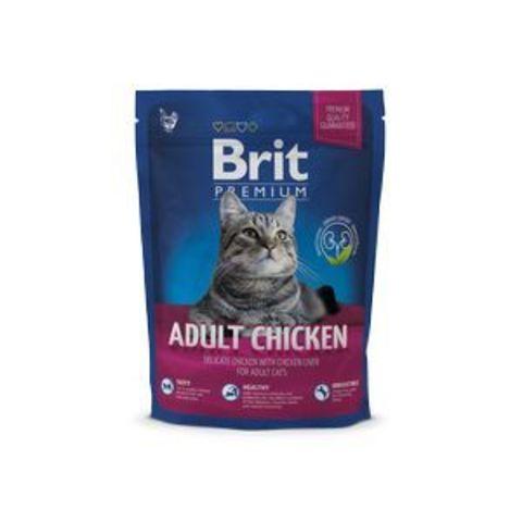 3834 Brit Premium Cat Adult Chicken д/взрослых кошек с Курицей 300гр*10