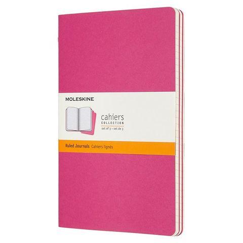 Блокнот Moleskine CAHIER JOURNAL CH016D17 Large 130х210мм обложка картон 80стр. линейка розовый неон (3шт)