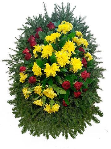 Траурный венок из живых цветов ВЖ 20