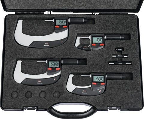 Набор цифровых микрометров IP65 с разъёмом для вывода данных 0-100 мм
