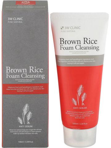 3W Clinic Пенка очищающая с экстрактом бурого риса Brown Rice Foam Cleansing 100 мл.