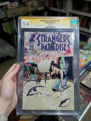 CGC Strangers in Paradise. Состояние 9,4. Автограф Терри Мура
