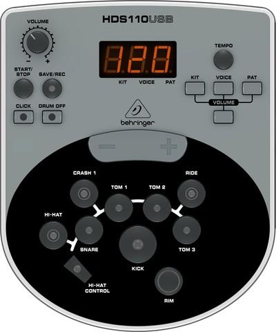 Behringer: Электронная ударная установка XD8USB