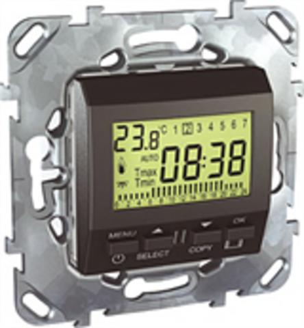 Терморегулятор недельный программируемый. Цвет Графит. Schneider electric Unica Top. MGU5.505.12ZD