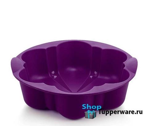 силиконовая форма цветок в фиолетовом цвете