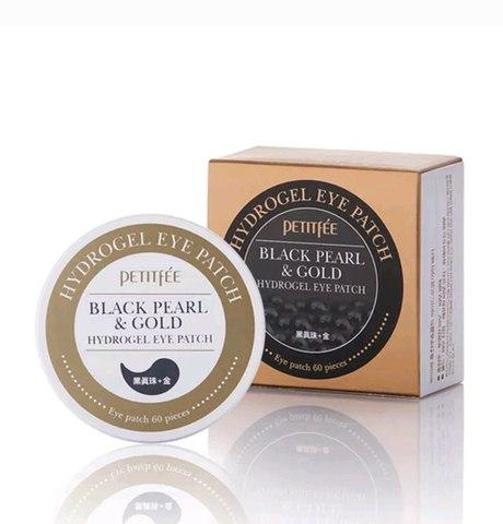 Petitfee Патчи для глаз с жемчугом и золотом Black Pearl&Gold Hydrogel Eye Patch, 60 шт