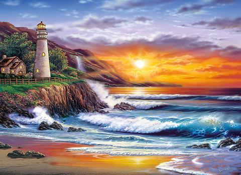 Картина раскраска по номерам 50x65 Заказ на пляже (арт. RSB8106)