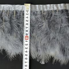 Купить оптом перья Марабу на ленте белые Grey в интернет-магазине