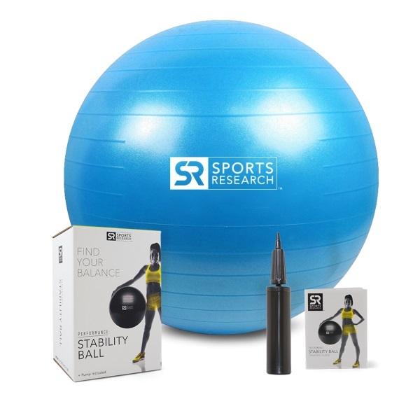 Фитнес-мяч Sports Research, голубой