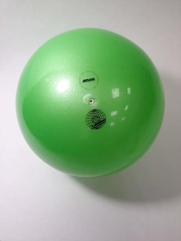 Мяч AMAYA 18,5 см салатовый перламутровый для художественной гимнастики