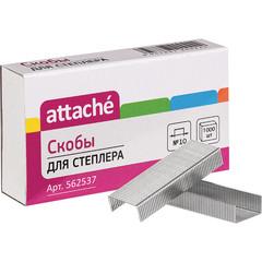 Скобы для степлера №10 Attache оцинкованные (1000 штук в упаковке)