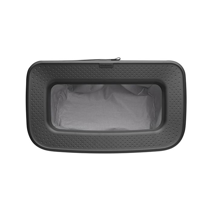 Бак для белья Bo с пластиковой крышкой (60 л), Черный матовый, арт. 200526 - фото 1