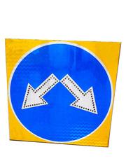 Светодиодный знак «Объезд препятствия справа или слева»