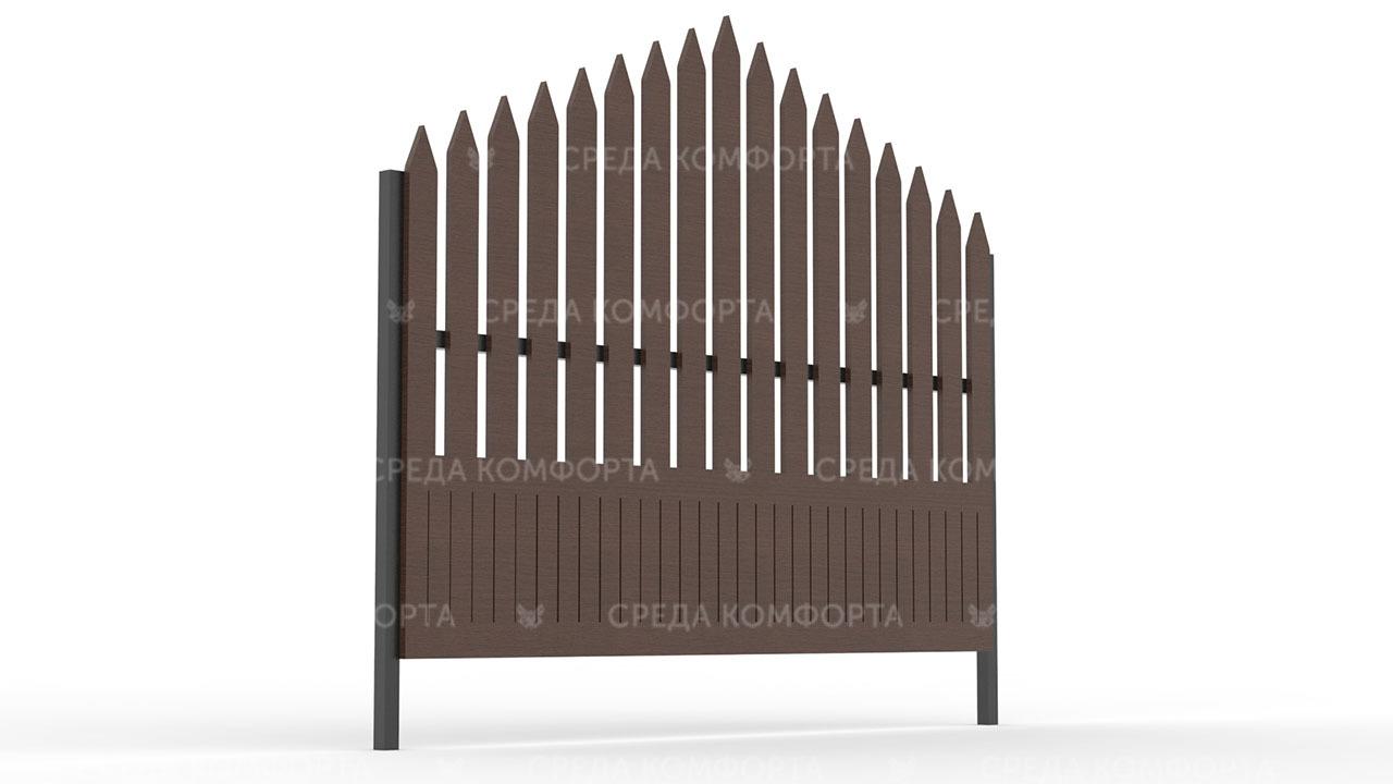 Деревянный забор ZBR0104