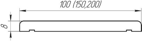 Доборная планка 100 мм.