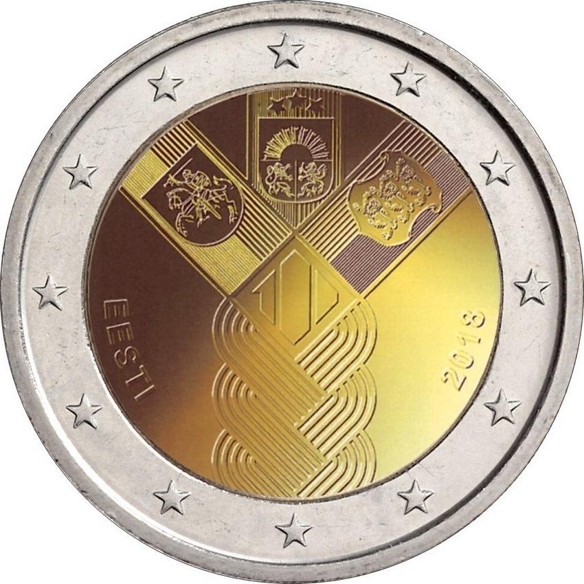 2 евро 2018 - Эстония