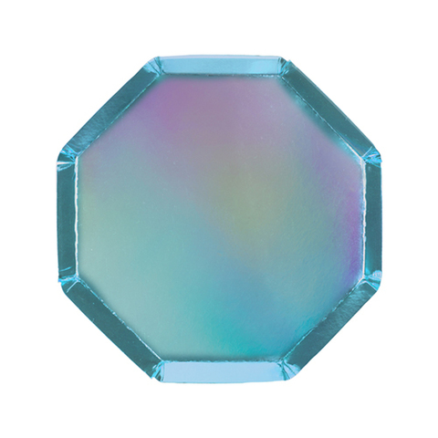 Тарелки синие фольгированные