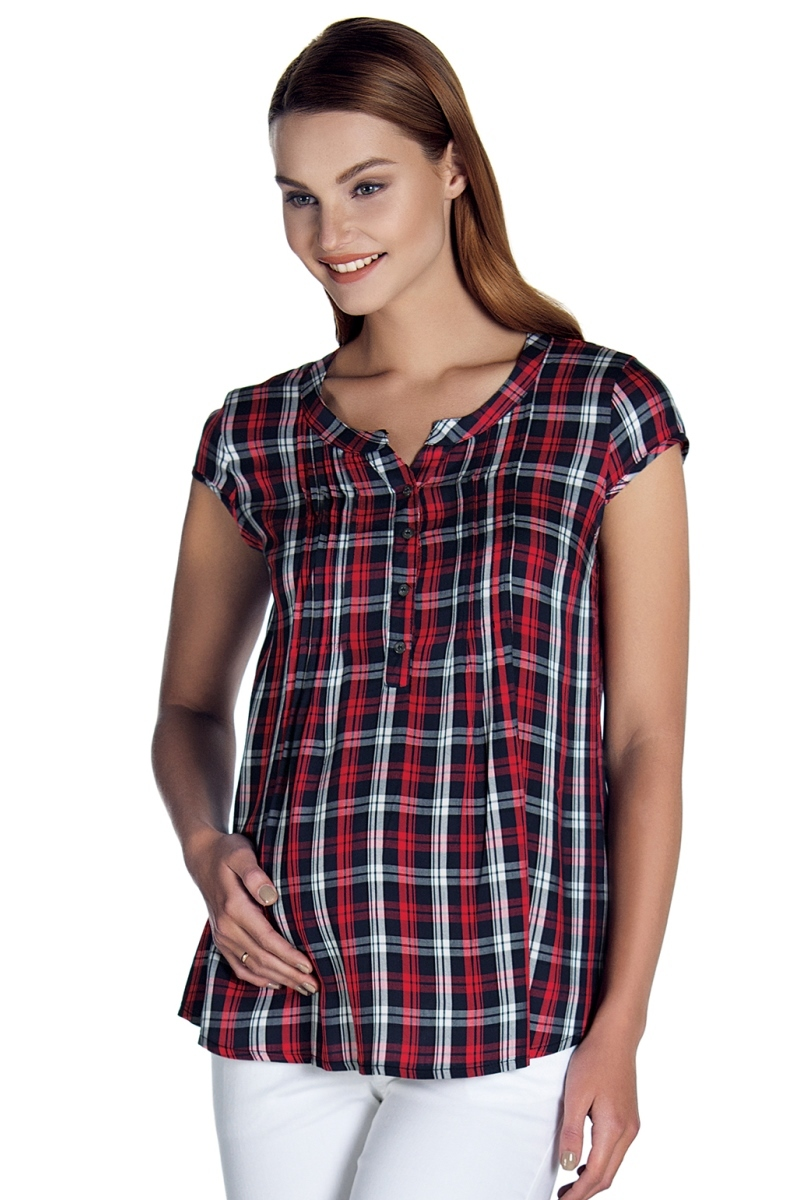 Рубашка для беременных 08477 красный
