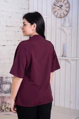 Хільда. Ніжна жіноча блуза великих розмірів. Бургунді