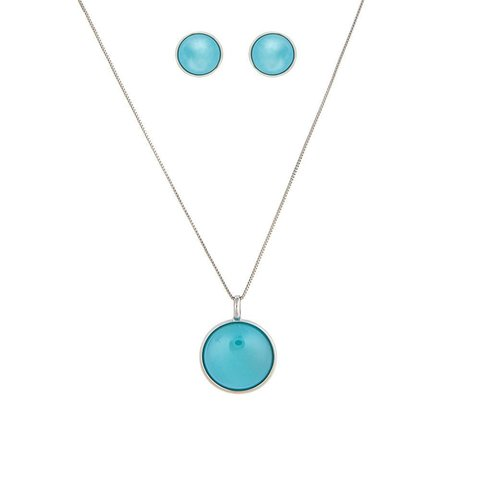 Комплект pearl blue sky agate S1565.21 B/S