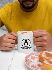 Мужская кружка с принтом Акура (Acura) белая 002