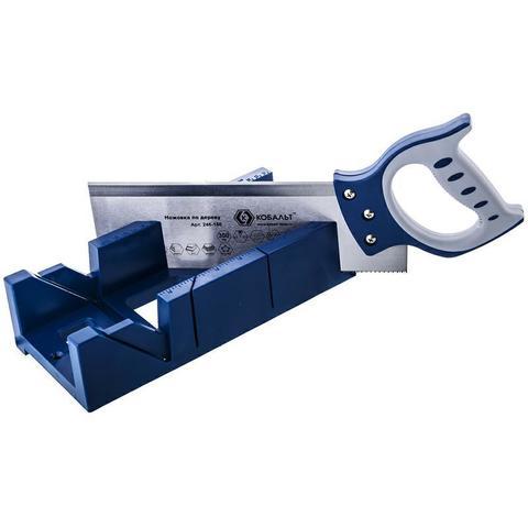 Ножовка по дереву КОБАЛЬТ 300 мм, шаг 2 мм/12 TPI, закаленный зуб, 2D-заточка, двухкомпонентная руко, точный рез, с пластиковым стуслом 300 х 130 мм