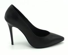 Классические кожаные туфли с фигурным вырезом