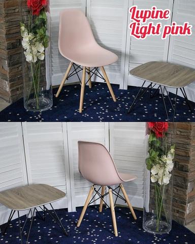 Стул LUPINE LIGHT PINK М-City (обеденный, кухонный, для гостиной), Материал каркаса: Массив бука, Цвет каркаса: Натуральный, Материал сиденья: Пластик, Цвет сиденья: Розовый, Цвет: Розовый, Материал каркаса: Дерево