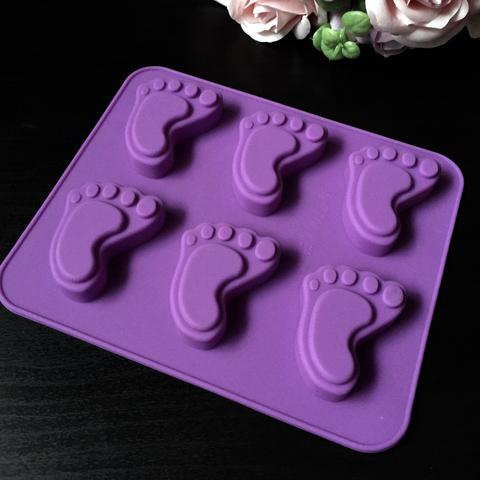 Силиконовая форма для шоколада СЛЕД-СТОПА большой размер  6в1 (35х45мм)