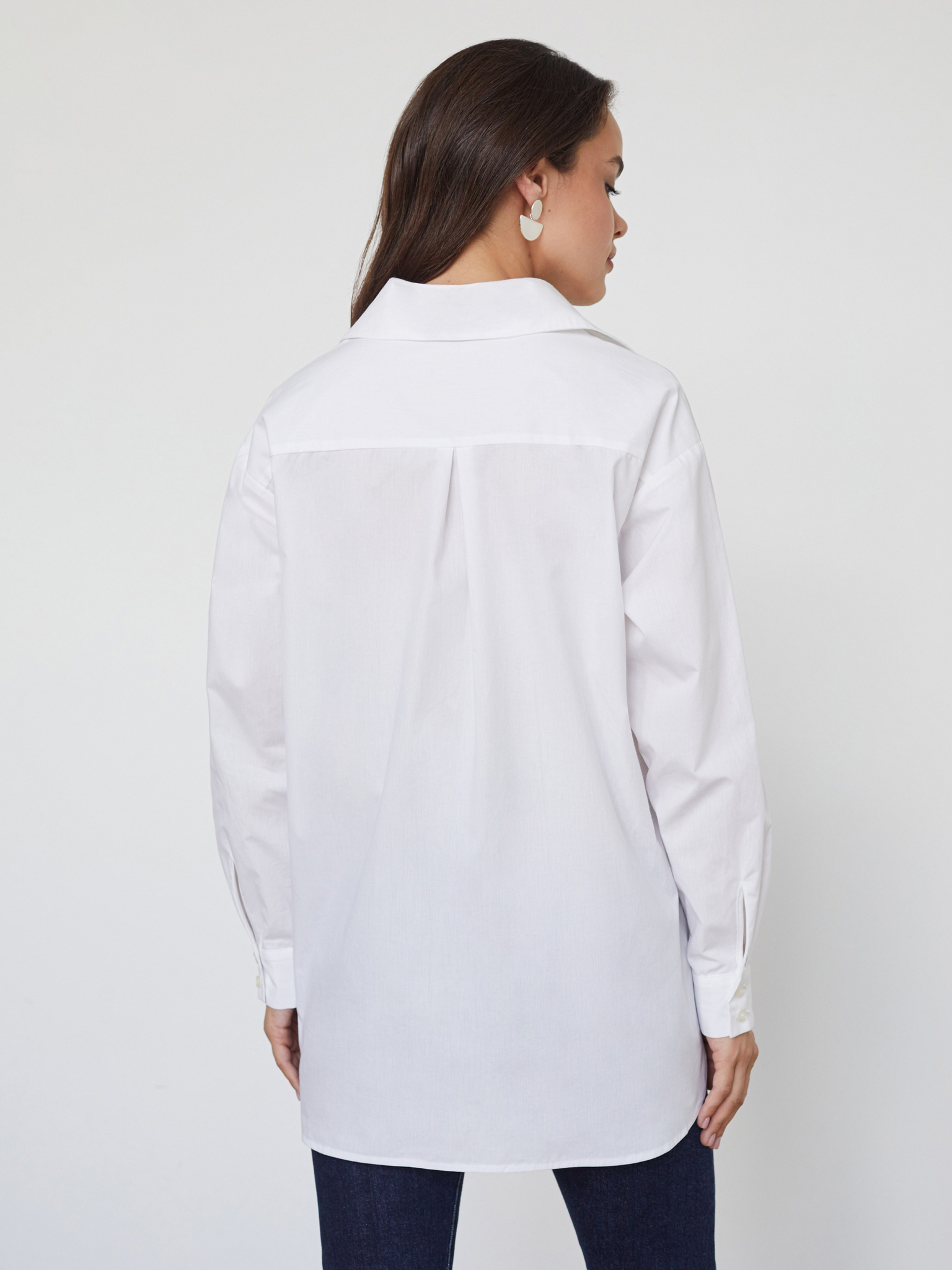 Белая рубашка oversize