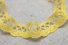 Кружево хлопковое,цвет желтый
